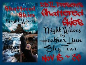Shattered Skies Night Waves Blog Tour Banner